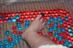 Infant Sensory Play - Touch | Activities For Children | Sensory Activities, Things to do with infants | Play At Home Mom