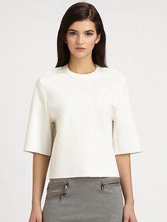 3.1 Phillip Lim neoprene white blouse