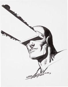 Neal Adams Cyclops Portrait Illustration Original Art(2004).... Image #1