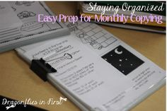 How To SAVE TIME and Prep for once a month copying that YOU don't have to do!