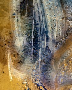 Abstract painting by Shirley Johnson. Mixed media. Acrylic and ink on paper