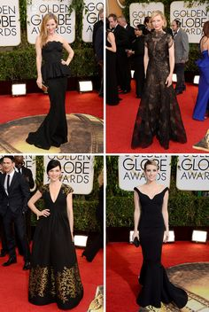 Golden Globes Dresses 2014 - Beautiful in Black - Cate Blanchett's dress was the best of the best!!
