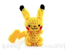 Electrichu Amigurumi Crocheted Toy by GeekyCuteCrochet on Etsy, $12.00