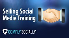 """http://complysocially.com/online-social-media-policy-training/selling-social-media/ Master the art of selling the value of social media to clients, coworkers or managers, whether they """"get it"""" or not. Learn to sell the value of social media to even the most disengaged, technophobic digital immigrants in this self-paced, online course that you can take right now."""