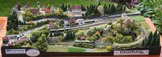 Drachenstein - heile Welt auf 60 x 120 cm - Modellbahn in 1:220