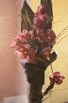 red cymbidium arrangement, Love in Bloom - Key West