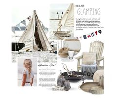 """""""Beach Glamping"""" by thewondersoffashion ❤ liked on Polyvore featuring interior, interiors, interior design, home, home decor, interior decorating, Threshold, Pom Pom at Home, Thro and Surya"""