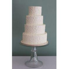 Bark Textured Wedding Cake
