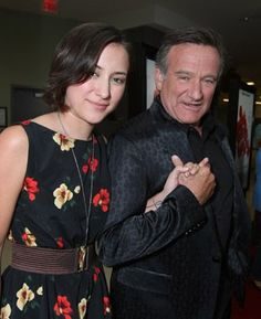 Robin Williams and Zelda Williams at World's Greatest Dad (2009)