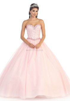 LK47MQ Cinderella Lace Tulle Corset Ball Gown
