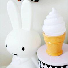 A Little Lovely Company LED Ice Cream Light - White