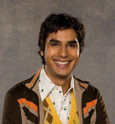 Kunal Nayyar (actor as Raj Koothrappali in The Big Bang Theory)