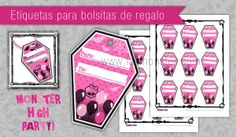 Etiquetas Monster High imprimibles