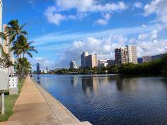Ala Wai Canal Walkway. The Ala Wai Canal is a 1.5 mile man-made waterway located a few blocks inland from Waikiki Beach, Oahu, Hawaii