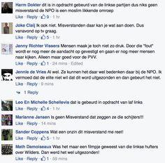 Ook op 'Steun de PVV' verontwaardigde reacties op het uitzenden van het verkeerde filmpje van Geert.