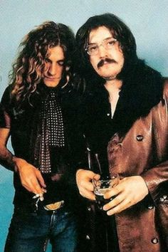 Led Zeppelin: Robert Plant and John Bonham... Wish there were concert time machines!!!@Lynn Ann
