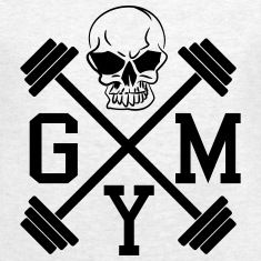 Gym-Skull-Dumbbell-Barbell-Weight-Athletics-1c-T-Shirts.jpg (JPEG-Grafik, 235 × 235 Pixel)