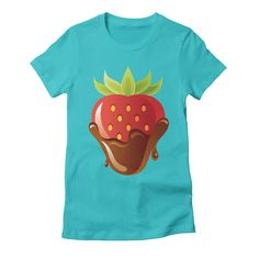 strawberry-3 womens t-shirt in pacific_blue