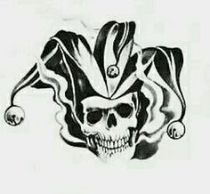 The jokers jester skull tattoo, Upper right side of the chest. Suicide squad movie