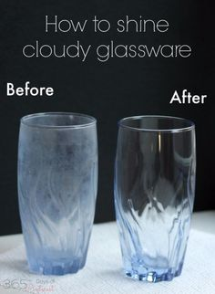 Cleaning Tips and Hacks To Keep Your Home Sparkling. Shine Cloudy Glassware - Clever Ways to Make DYI Cleaning Easy. Bedroom, Bathroom, Kitchen, Garage, Floors, Countertops, Tub and Shower, Til, Laundry and Clothes http://diyjoy.com/best-cleaning-tips-hacks