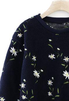 Floral Embroidered K.N.I.T~