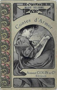 1891  Mucha produces his first book illustrations for Armand Colin    Mucha is taken on as an illustrator for the Paris-based publisher Armand Colin.    Founded in 1870, Armand Colin was one of the first publishers to produce high quality school manuals just as primary education became mandatory in France.