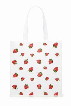 Strawberry Shopper Tote