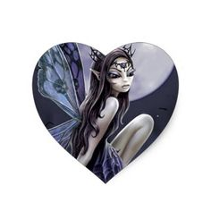 Dark Skull Fairy Heart Sticker