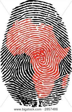 Illustration about Fingerprint with the contour of Africa. Illustration of macro, human, single - 4308302 African Art Paintings, African Artwork, African Map, African History, Afrika Tattoos, Africa Continent, Africa Art, Africa Painting, Black Girl Art