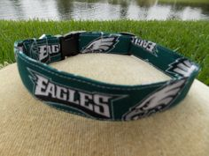 Philidelphia Eagles Dog Collar Large by LucyLous22 on Etsy, $14.00