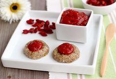 raw oat cookies with goji berry jam