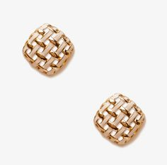 Simple, interesting stud earrings polish any outfit.Where to buy and what to wear with it:  http://blog.womenshealthmag.com/beauty-style-buzz/dinner-date/