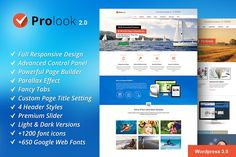 Prolook - Multipurpose Theme by ToobaDesign on @creativemarket