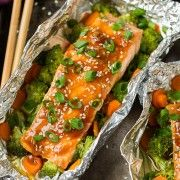 Honey Teriyaki Salmon and Veggies in Foil | Cooking Classy