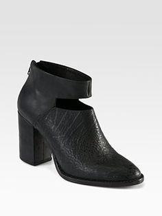 Rachel Comey - Cutout Leather Ankle Boots