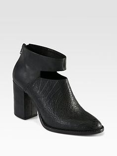 Rachel Comey - Cutout Leather Ankle Boots