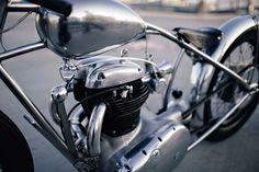 BSA A50 motorcycle customized by Maxwell Hazan.