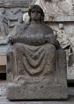 Mater Matuta, Mother Goddess figure - from Etruscan culture, found Tufa, circa 6th-5h c. BCE - at the Etruscan Museum, Rome
