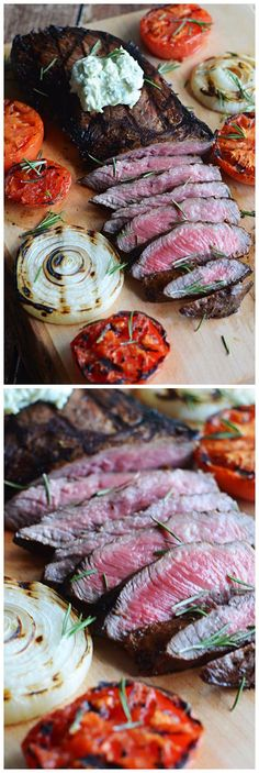 Grilled Balsamic Steak with Blue Cheese Butter. ~ Chopped Jalapeno