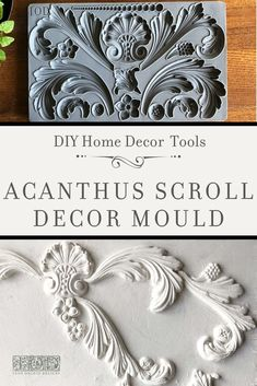 IOD MOULDS FALL 2019 - Decor Moulds™️ by Iron Orchid Designs - IOD Moulds - Adding vintage three-dimensional details to your painted furniture and home decor projects has neve - Diy Home Decor Projects, Furniture Projects, Furniture Makeover, Craft Projects, Easy Home Decor, Decor Ideas, Baroque Decor, Victorian Decor, Diy Furniture Appliques