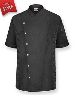 """PLYMOUTH"" Chef Coat-Black/Black"