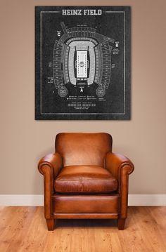 NFL Print Vintage Heinz Football Stadium Print by ClavinInc