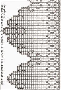 Afbeeldingsresultaat voor cortinas tejidas a crochet Crochet Border Patterns, Crochet Lace Edging, Thread Crochet, Crochet Trim, Crochet Doilies, Crochet Flowers, Crochet Stitches, Filet Crochet Charts, Crochet Diagram