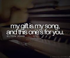 Your song - Elton John. Also love the Ellie goulding and Moulin rouge covers x