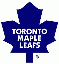 Toronto Maple Leafs Primary Logo (1983) - Blue 11-point maple leaf with the team name inside in white