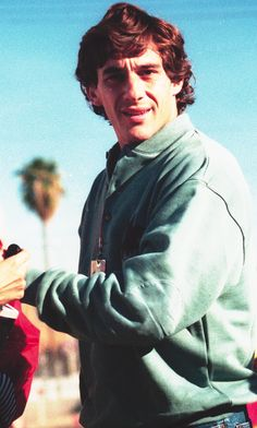 Ayrton Senna da Sliva. Taken at the United States Grand Prix 1991 Phoenix Az. Ayrton arrives at the circuit on Sunday Morning. He would go on to win the race!