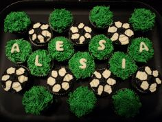 Soccer cupcake design idea (would be great with the team name).