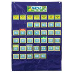 Deluxe Calendar Pocket Chart, CD-158156