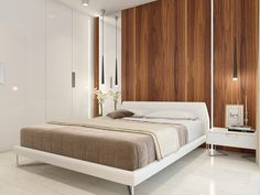 Apartment in Israel on Behance Arch Interior, Interior Architecture, Interior Design, Interior Ideas, Living Room Partition Design, Room Partition Designs, Master Bedroom Design, Bedroom Wall, Bed Room