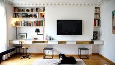 Aménager un coin bureau dans son salon bureau bibliotheque